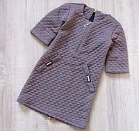 Детское платье р. 128-152 Кофейное, фото 1