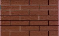 Фасадная клинкерная плитка Burgund рустикальная 6,5x24,5