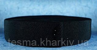 Резинка 50 мм чёрные пупырышки