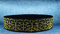 Резинка 50 мм орнамент люрикс золото