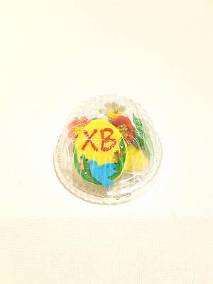 """Пасхальный набор """"Пасхальное яйцо ХВ с голубем и цветами"""""""