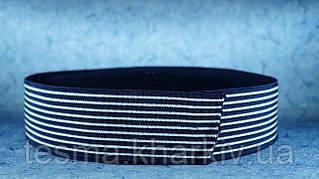 Резинка 50 мм тельняшка синяя с белым