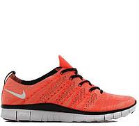 d0ab0062 Кроссовки мужские беговые Nike Free Flyknit NSW Lava/White (в стиле найк  фри ран