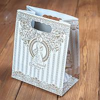 Пакет для каравая и сладостей с золотым орнаментом, коробочка для свадебного каравая