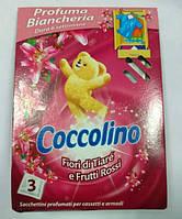 """Coccolino ароматизированные салфетки """" Цветок Тиаре и Красные фрукты""""(3 шт)"""