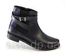 Кожаные ботинки с резинкой