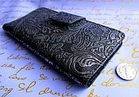 Стильный женский кошелёк с узором Серебро