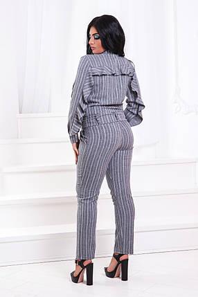 ДТ201/1 Костюм двойка блузка+брюки в полоску (размеры 50-56), фото 2