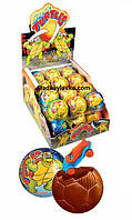 Яйцо шоколадное шар Super Turtles 24 шт 35 г (ANL)