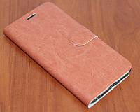 Чехол Книжка для Meizu U10 коричневый
