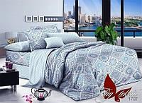 Комплект постельного белья с компаньоном 1707 полуторный (TAG поплин (1,5-sp)-022)
