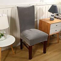 Honana WX-660 Spandex Velvet Толстый сплошной цвет Обеденный стул Slipcovers Hotel Анти-грязный съемный стрейч фланель стул обложка Home Decor