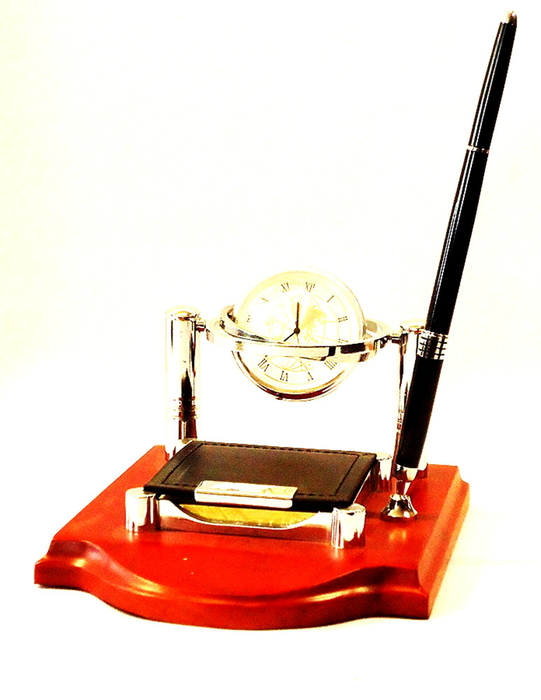 Настольный набор для офиса с часами-Секретарь