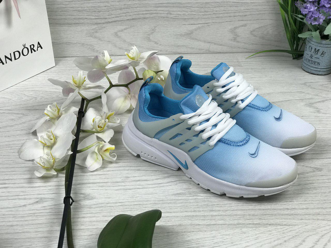 Кроссовки женские Nike Air Presto (голубые), ТОП-реплика