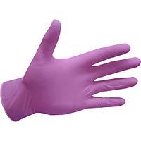 Рукавички нітрилові, рожеві mediCARE - 100 шт/уп, XS