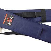 Чехол плотный для оружия с карманом темно-синий (145 см) Стандратный