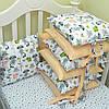 Комплект в кроватку «Енотики» 8 бортиков + простынь, фото 2