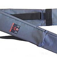 Чехол плотный для оружия с карманом серый (145 см)