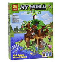 "Конструктор Lele Minecraft / Майнкрафт (аналог Lego) 33125 ""Дом у реки"", 443 дет"