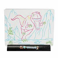 3DВолшебныйМигающийчертежнойдоскеДинозавр игры для детей Дети образования Рождественский подарок игрушки