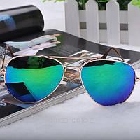 Очки капли Aviator солнцезащитные зеркало Blue G