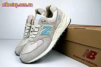 Женские кроссовки New Balance 999 бежевые с бирюзой