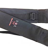 Копия Чехол плотный для оружия с карманом черный (145 см)