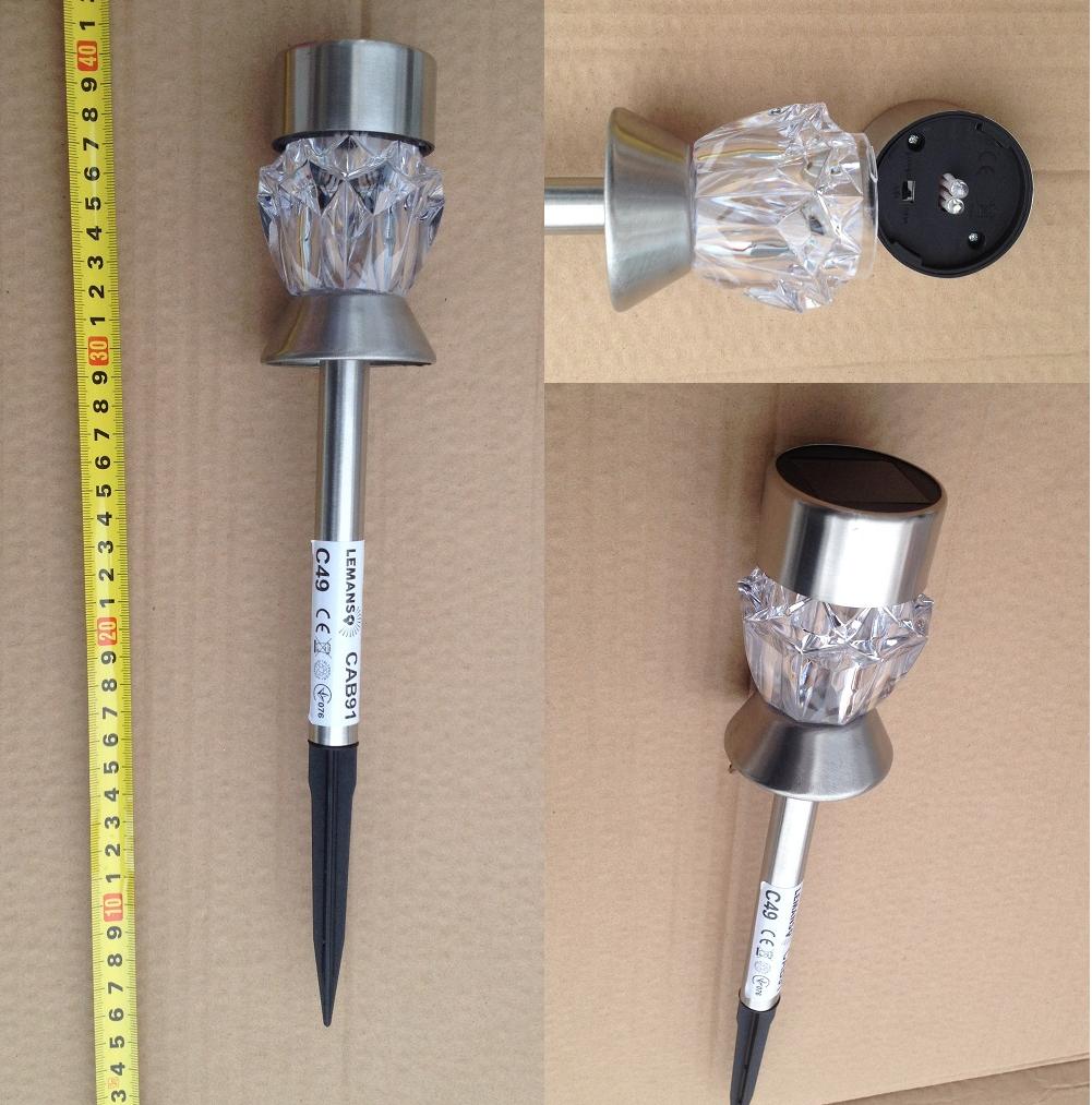 Газонный светильник на солнечной батарее кристал CAB 129 Lemanso