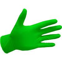 Перчатки нитриловые, green apple Abena (Дания) - 100 шт/уп, XS, S, M, L, фото 1