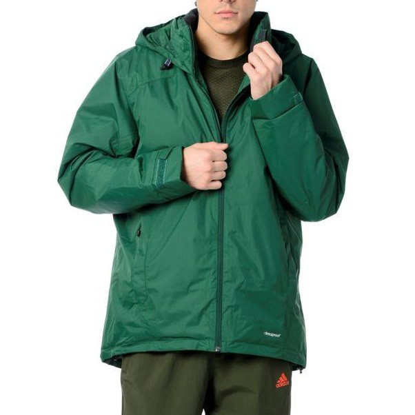 Куртка спортивная мужская непромокаемая adidas Outdoor Jacket HT WT PADDED J A98396 адидас