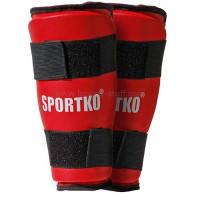 Защита ног (голень) Sportko арт.332 р.М красные