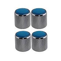 Серебристый рулон с тонером 4шт с куполообразным тоном с синим верхом для электрической гитары