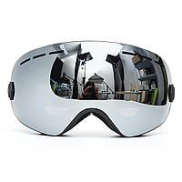 Лыжные очки для сноуборда 2 слоя Объектив Защита от ультрафиолетовых лучей Противотуманные мотоцикл Вождение серый