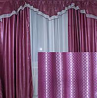 "Комплект ламбрекен  со шторами из ткани ""Блэкаут"" 089лш120(1,5*2,77)У"