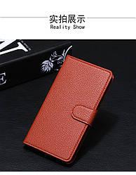 Чехол для Samsung Galaxy J2 2015 / J200 книжка кожа PU коричневый
