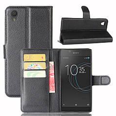 Чехол Sony Xperia L1 / G3212 книжка кожа PU черный
