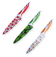 Ножи стальные 190 мм с рисунком