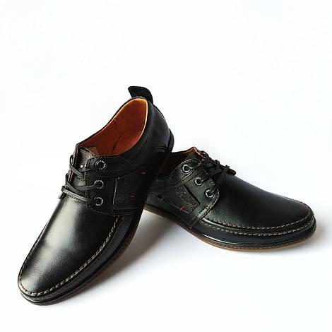 Харьковская  фабрики обуви ydg: мужские кожаные туфли, черного цвета, повседневные