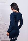 Стильная темно-синяя вязаная туника, фото 2