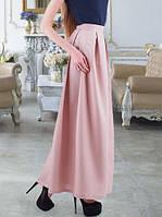 Длинная юбка из габардина бежевая