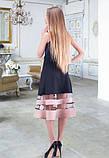 Черная юбка с бежевыми полосками, фото 2