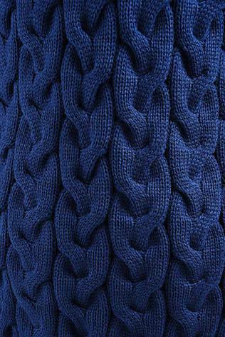 Модный вязанный женский кардиган синий, фото 2