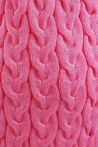 """Молодежный вязаный кардиган-накидка выше колен в косичку """"LOLO"""" светло-розовый, фото 2"""
