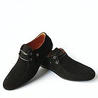 5916f6985 Мужская кожаная обувь Харьков: стильные, замшевые мокасины, черного цвета,  фабрики юдж 42