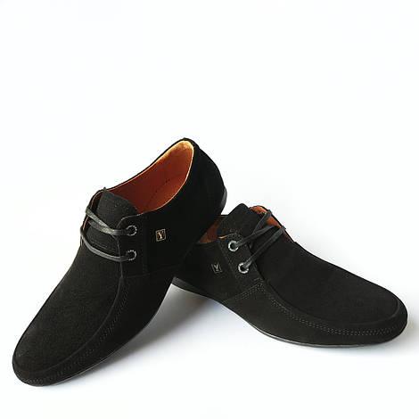 Новинка Мужская кожаная обувь Харьков  стильные, замшевые мокасины, черного  цвета, фабрики юдж c457dec9b56