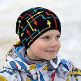 Шапка для мальчика демисезонная с рисунком, Разные цвета, 52-56, фото 2