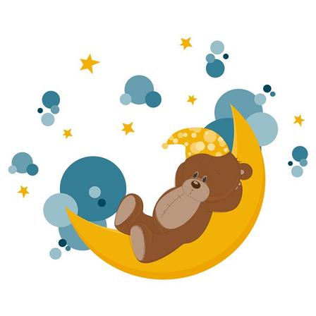 Наклейка в Детскую Sleeping Bear, фото 2