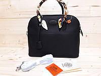 Красивая черная женская сумка реплика Гермес