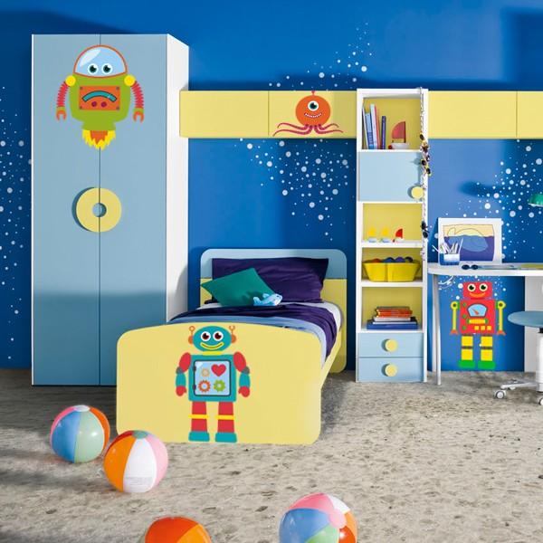 Наклейка в Детскую Robots