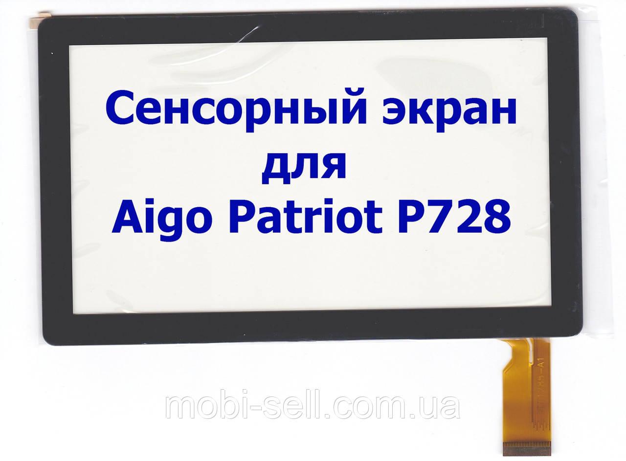 Сенсорный экран тачскрин для Aigo Patriot P728